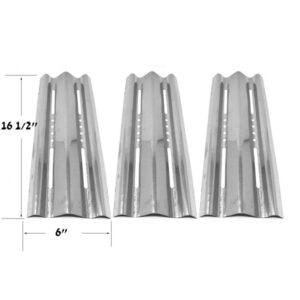 STAINLESS HEAT SHIELD FOR NAPOLEON BIM485, BIM485RB, BIM605, L485, L485RB, L485RSB GAS MODELS, (3-PACK)