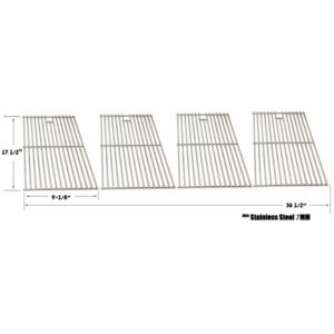 TERA GEAR & VERMONT CASTINGS STAINLESS STEEL COOKING GRATES, SET OF 4
