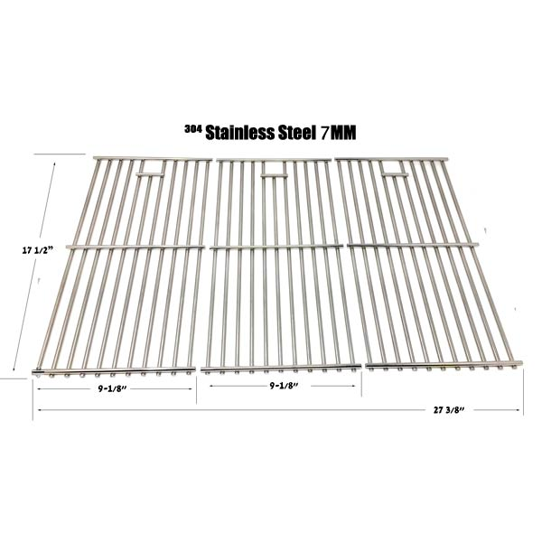 VERMONT CASTINGS STAINLESS STEEL COOKING GRATES, SET OF 3