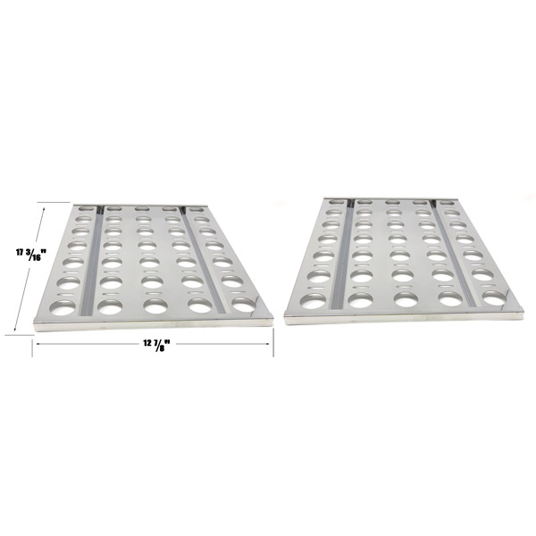 GRILL REPAIR 2 PACK STAINLESS STEEL HEAT PLATE FOR ALFRESCO AGBQ-30B, AGBQ-30C, AGBQ-30CD, AGBQ-30SZC, AGBQ-42SZC, AGBQ-30 GAS GRILL MODELS