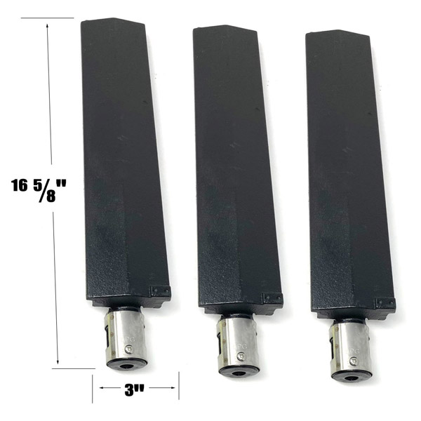 GRILL REPAIR 3 PACK CAST IRON BURNER FOR MASTER FORGE BG1793B-A, BG179A GAS GRILL MODELS