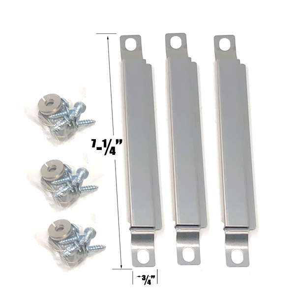 GRILL REPAIR 3 PACK STAINLESS STEEL CROSSOVER TUBE FOR CENTRO G41201, COLEMAN G41207, CUISINART G41206 GAS GRILL MODELS