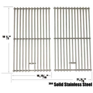 GRILL REPLACEMENT 2 PACK STAINLESS STEEL COOKING GRATES FOR CUISINART, COLEMAN & CENTRO GAS GRILL MODELS