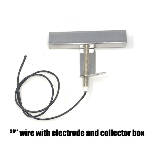 """GRILL REPLACEMENT 28"""" WIRE WITH ELECTRODE AND COLLECTOR BOX FOR BRINKMANN, CHARMGLOW, HOME DEPOT GAS GRILL MODELS"""