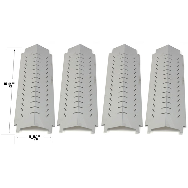GRILL REPLACEMENT 4 PACK STAINLESS STEEL HEAT PLATE FOR CENTRO G60105, 85-1095-6, CHAR-BROIL 463260307 GAS GRILL MODELS