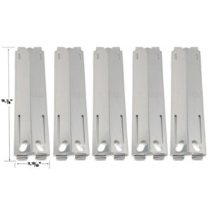 GRILL REPLACEMENT 5 PACK STAINLESS STEEL HEAT PLATE FOR GRAND CAFE, PATIO RANGE, GRAND ROYALE, MEMBER'S MARK, SAMS, GRAND HALL CG109ALP, CG587 GAS GRILL MODELS