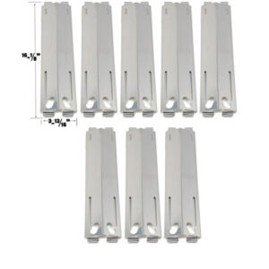 GRILL REPLACEMENT 8 PACK STAINLESS STEEL HEAT PLATE FOR BAKERS & CHEFS MEV808ALP, PATIO RANGE, MEMBER'S MARK, SAMS, GAS GRILL MODELS