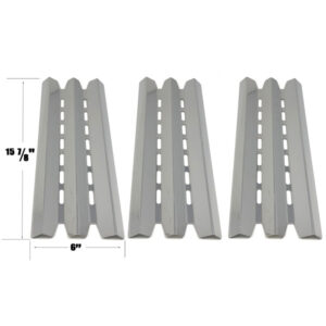 GRILL REPLACEMENT STAINLESS STEEL 3 PACK HEAT PLATE FOR STERLING, HUNTINGTON, BROIL-MATE, BROIL KING 9020-54NZ, 9020-57NZ, 9211-54 GAS GRILL MODELS