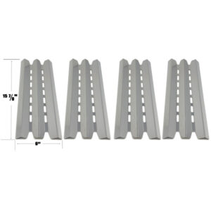 GRILL REPLACEMENT STAINLESS STEEL 4 PACK HEAT PLATE FOR STERLING, HUNTINGTON, BROIL-MATE, BROIL KING 9020-54NZ, 9020-57NZ, 9211-54 GAS GRILL MODELS