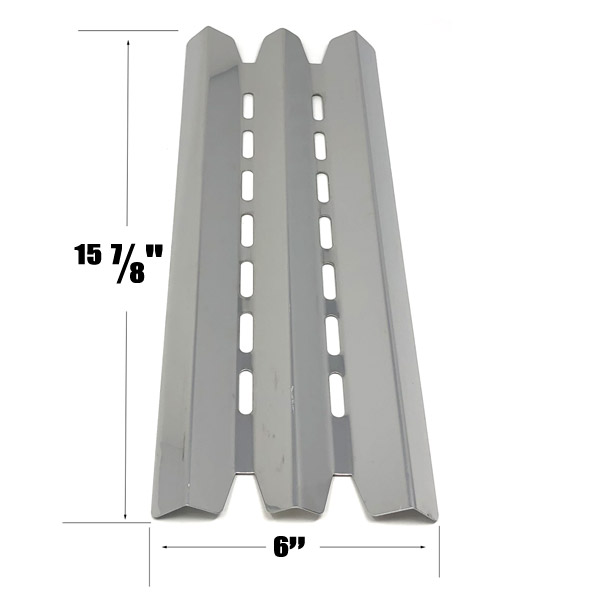 GRILL REPLACEMENT STAINLESS STEEL HEAT PLATE FOR STERLING, HUNTINGTON, BROIL-MATE, BROIL KING 9020-54NZ, 9020-57NZ, 9211-54 GAS GRILL MODELS
