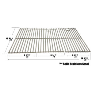 GRILL REPLACEMENT STAINLESS STEEL COOKING GRATES FOR UNIFLAME GBC1030W & BACKYARD GRILL BY14-101-001-099, GBC1449-C GAS GRILL MODELS, SET OF 3